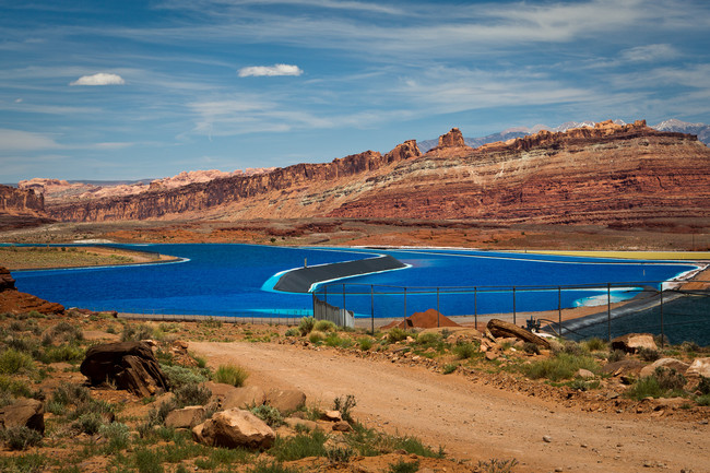 Potash evaporation ponds near Moab, UT