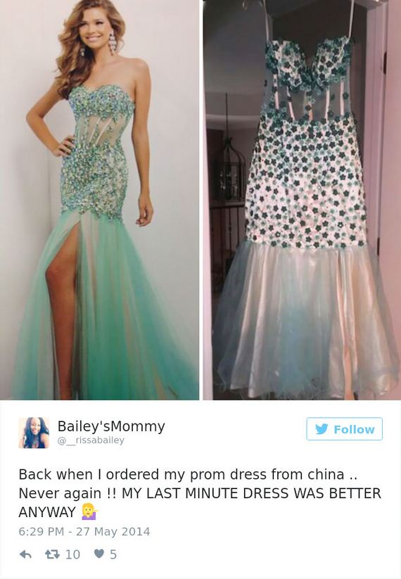 4804ef76b33 Unless you decide to buy your prom dress online that is. Which prom dress  do you find the funniest  Let us know in the comments below and don t  forget to ...