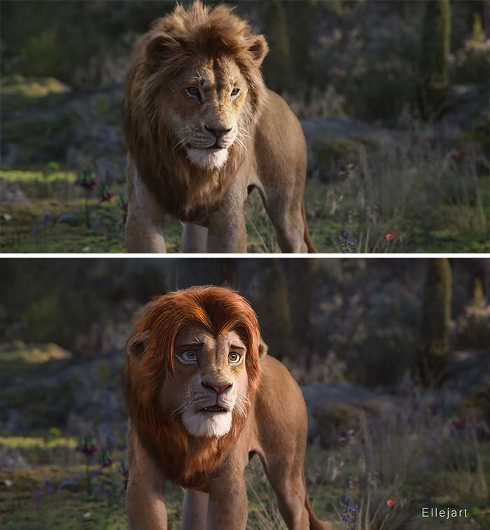 Artists Gave The New Lion King Characters Old School